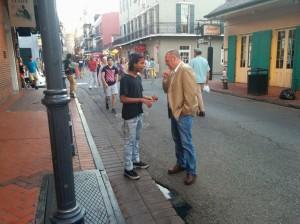 Feet in Street